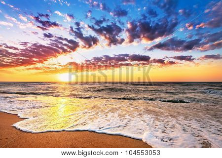 Brilliant Ocean Beach Sunrise.