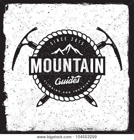 Mountain Guides Vintage Emblem