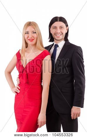 Pair isolated on the white background