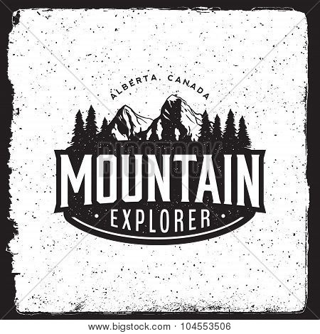 Mountain Explorer Vintage Emblem