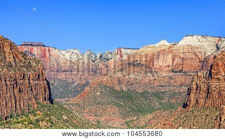 Mountain Landscape In Zion National Park, Utah, Usa.