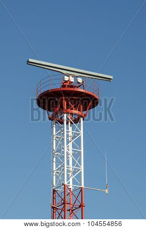 Tower with radar