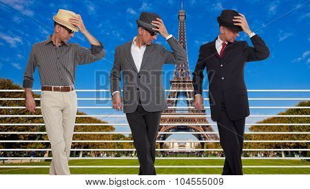 Three clones or triplets in Paris, France