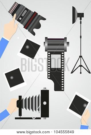 Retro Elements For Pictures And Hands