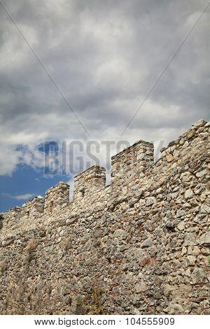 Stone Wall In Castle