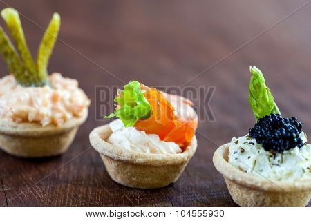 Mini Tartlets With Savory Filling.
