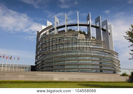 Government Building Of The European Union In Strasbourg, Bas-rhin, Alsace, France
