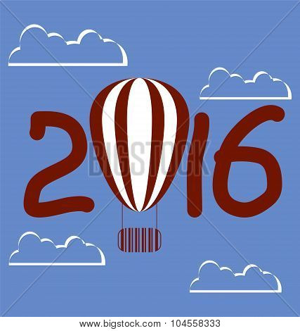 For Calendar 2016 With Sky And Balloon
