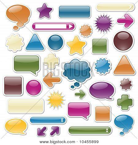 Jewel-toned Web Elements