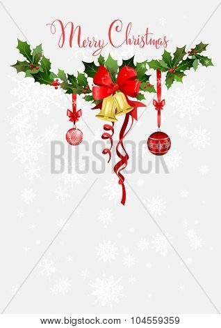 Christmas holiday design for background, invitation, banner, leaflet and so on.