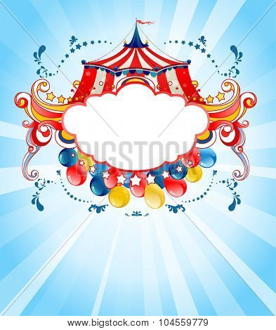 Bright circus background  for design card, banner, leaflet and so on.