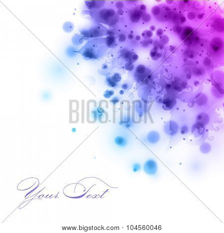 abstract vector floral illustration