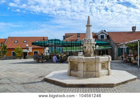Drinking Fountain Karacha On Square Duke Stefan (bellavista), Herceg Novi, Montenegro