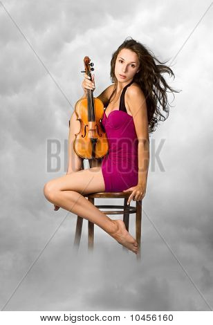Woman And Violin