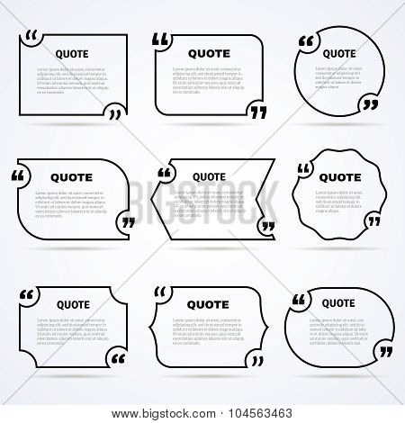 Timeless wisdom quotes outlined icons set