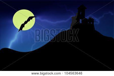 dark halloween castle