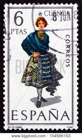 Postage Stamp Spain 1968 Woman From Cuenca
