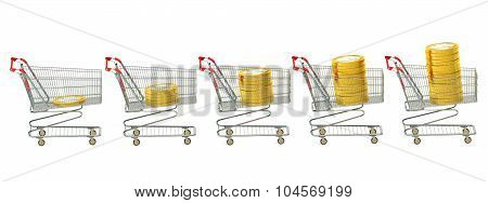 Shopping Carts With Coins