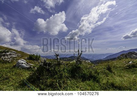 Landscape With Rocks From Bucegi Mountains, Part Of Southern Carpathians In Romania