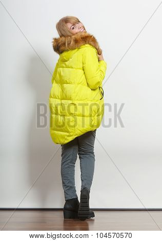 Fashion Girl In Jacket.