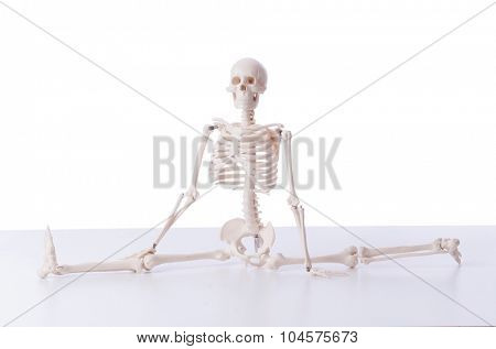 Funny skeleton isolated on white
