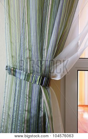 Curtain Patterned With Strips