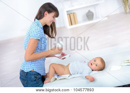 Mother spending quality time with her baby