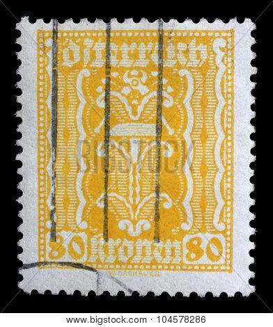 AUSTRIA - CIRCA 1923: A stamp printed in Austria, shows hammer and pliers, circa 1923