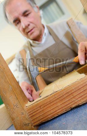Mending an old chair