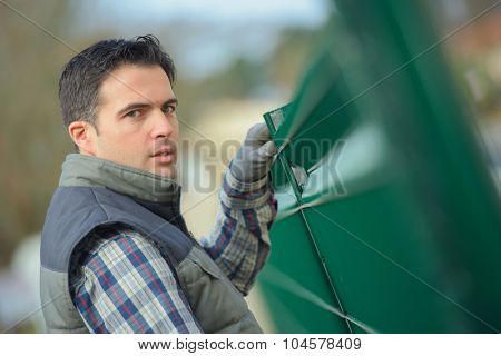 Installing a fence