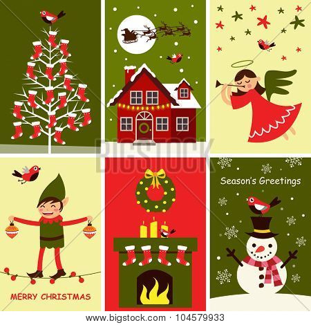 Merry Christmas greeting card, banner and poster design