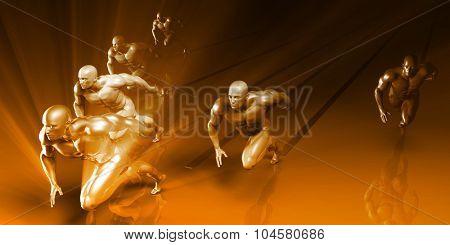 Fitness Training Program as a Art Concept