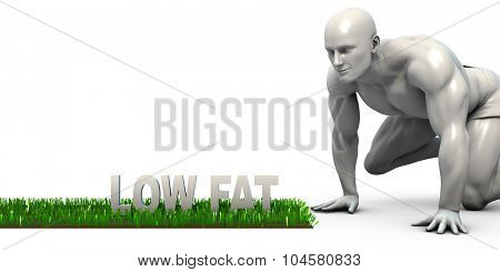 Low Fat Concept with Man Looking Closely to Verify