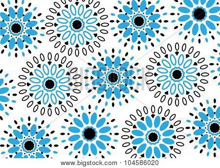 Funky flower pattern background