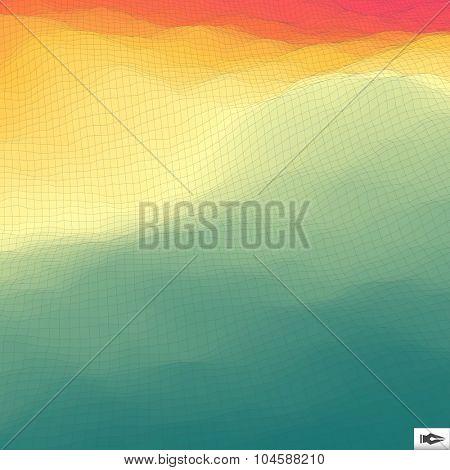 Abstract Hi-Tech Background. Vector Illustration. Mosaic.