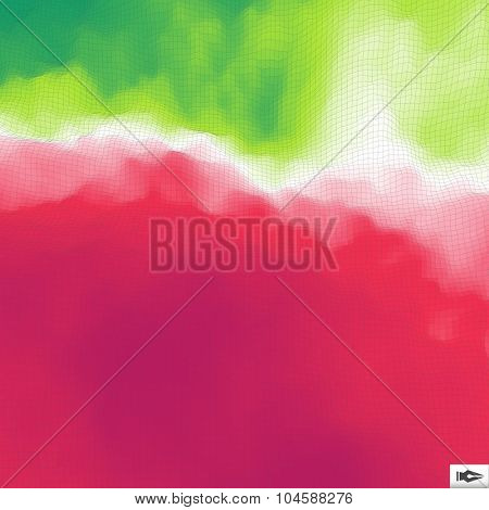 Abstract Geometric Background With Polygons.  Mosaic Vector Illustration.  Low Poly Design.