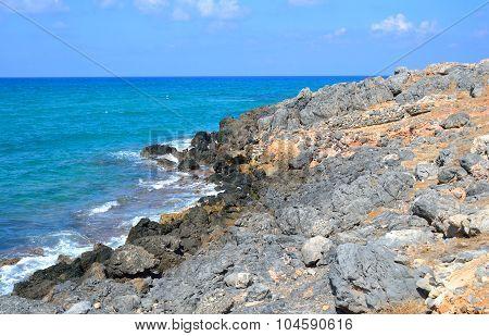 The Shores Of The Aegean Sea.