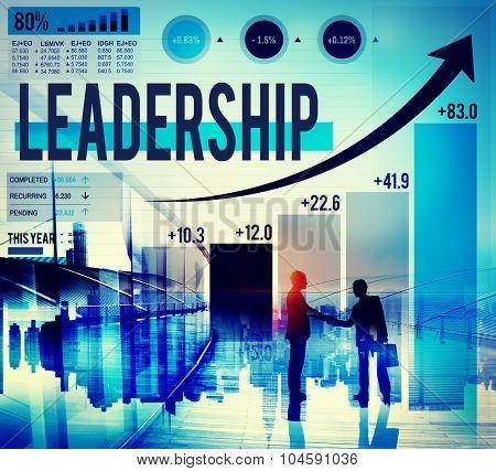Leadership Lead Management Coach Concept