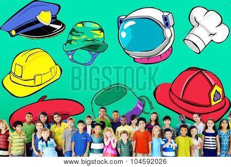 Hat Occupation Dream Job Goal Expertise Concept