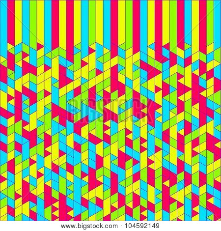 Abstract Geometric Background. Mosaic. Vector Illustration. Can Be Used For Wallpaper, Background, Book Cover.