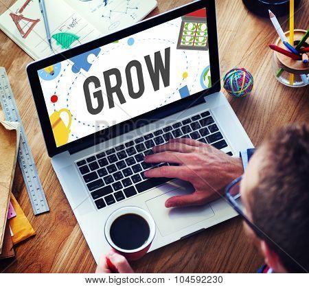 Grow Achievement Success Development Goals Concept