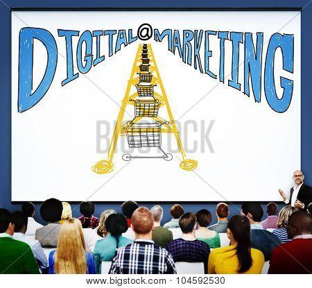 Digital Marketing Online Communication Website Concept