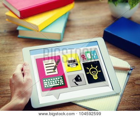 Content Connect Social Media Data Blog Concept