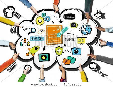 Ethnicity Hands People Volunteer Support Training Concept