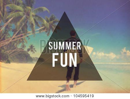 Summer Fun Beach Friendship Holiday Vacation Concept