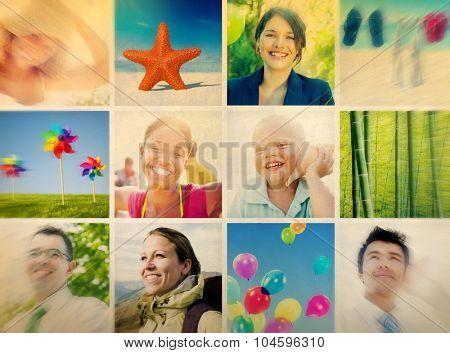 Portrait Multiethnic Diverse Cheerful People Lifestyle Concept