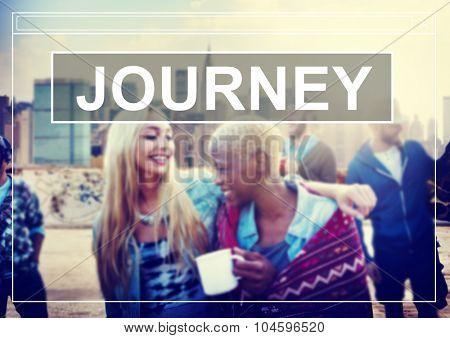 Journey Travel Destination Exploration Goals Concept