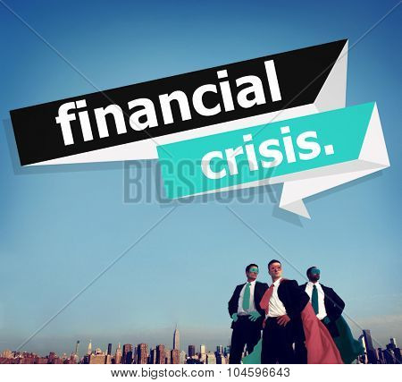 Financial Crisis Economics Accounting Banking Concept