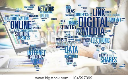 Digital Media Social Media Network Technology Electronic Concept