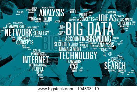 Big Data Storage Online Cloud Data Center Web Concept